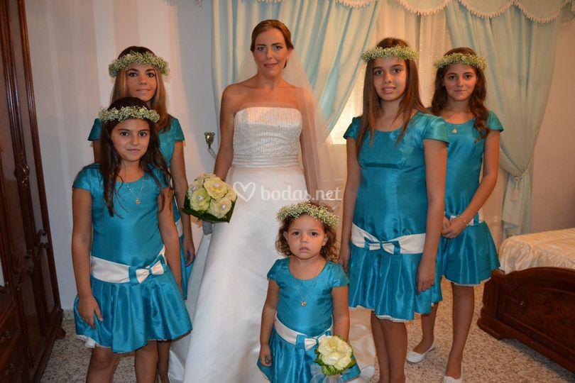 Ramo de novia y de niñas