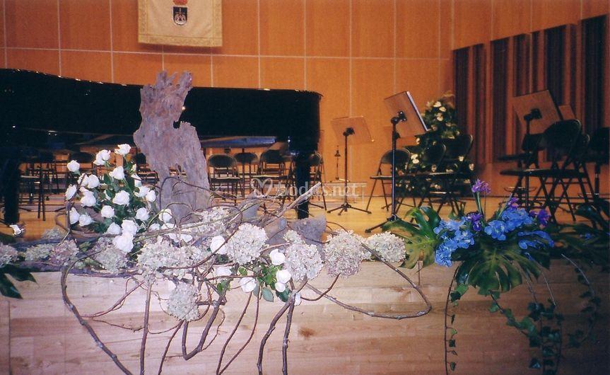 Ambientación en el auditorio