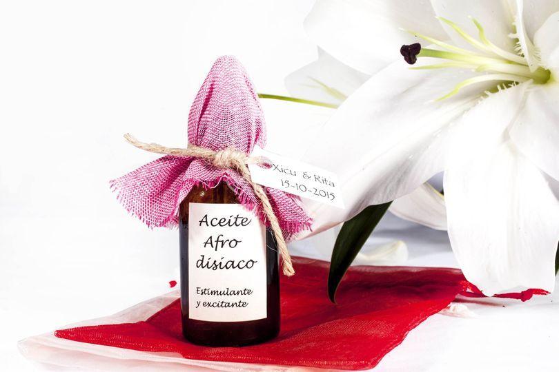 Aceite de masaje afrodisíaco