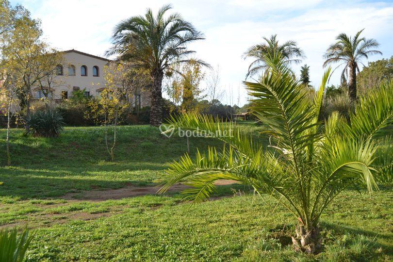 Jardín y fachada