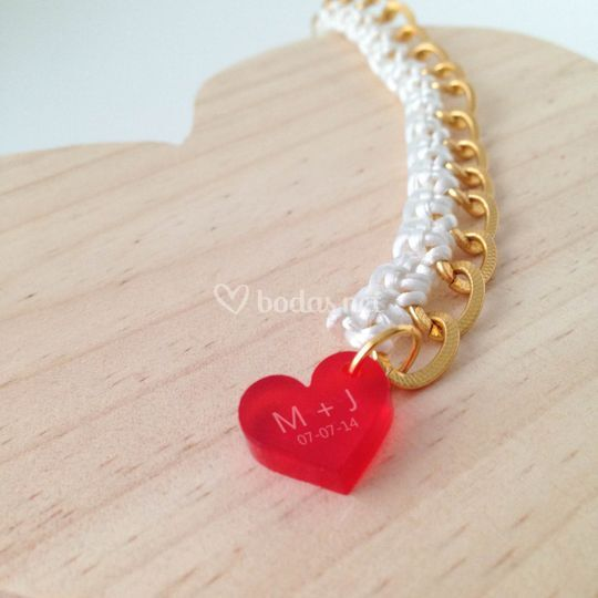Pulsera custome heart