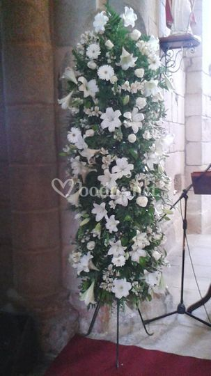 Columna de flores