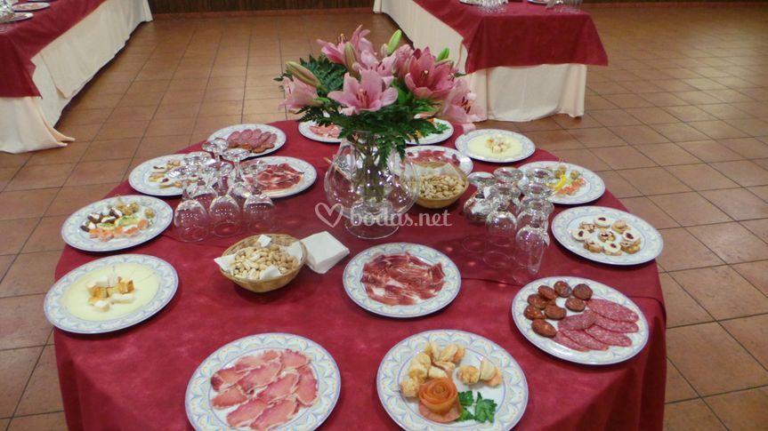 Mesa buffet libre