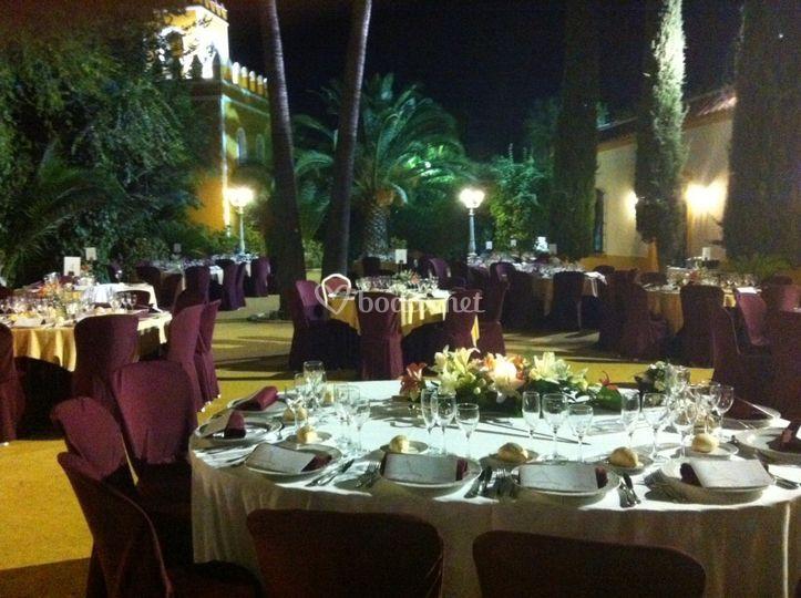 Cena al aire libre