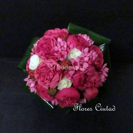 Bouquet en tonos fucsia