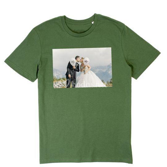 Camiseta con foto de los novios