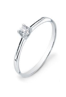 Solitario diamante zafir
