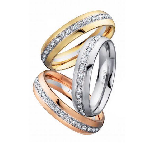 Alianzas con diamantes duoo