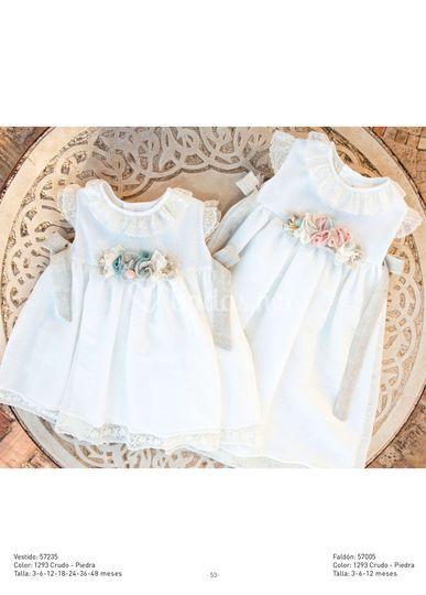 Vestido de arras bebé