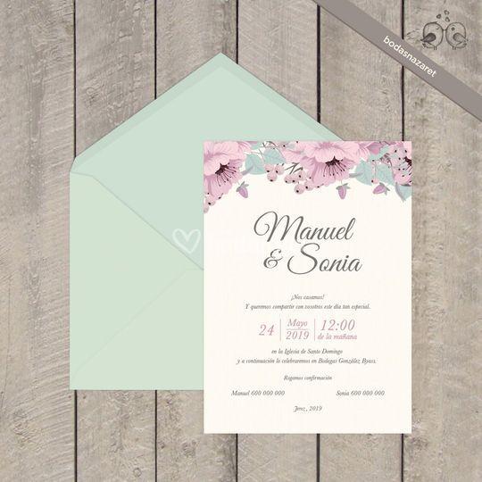 Ref. 315 Invitación floral