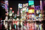 Shibuya bajo la lluvia