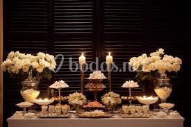 Mesa de dulce romántica