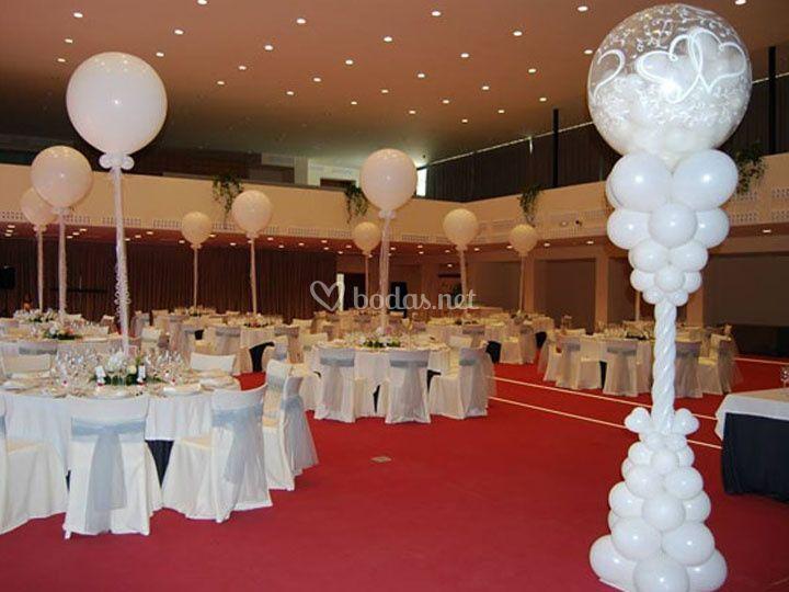 El arte de globos - Decoracion columnas salon ...