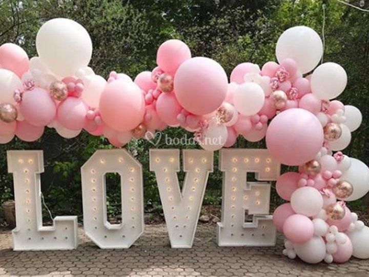 Love y globos