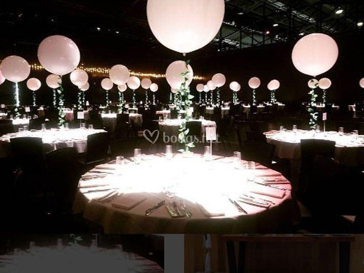 Centros de mesa con LED
