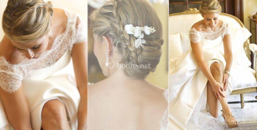 La belleza natural de la novia