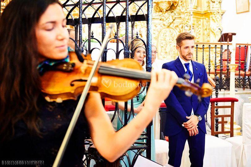 Boda religiosa - Entrada novia