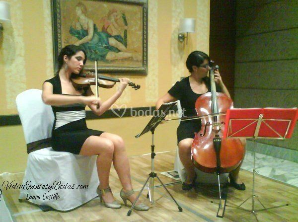 Cóctel violín y violonchelo
