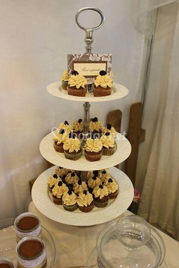 Cupcakes en torre