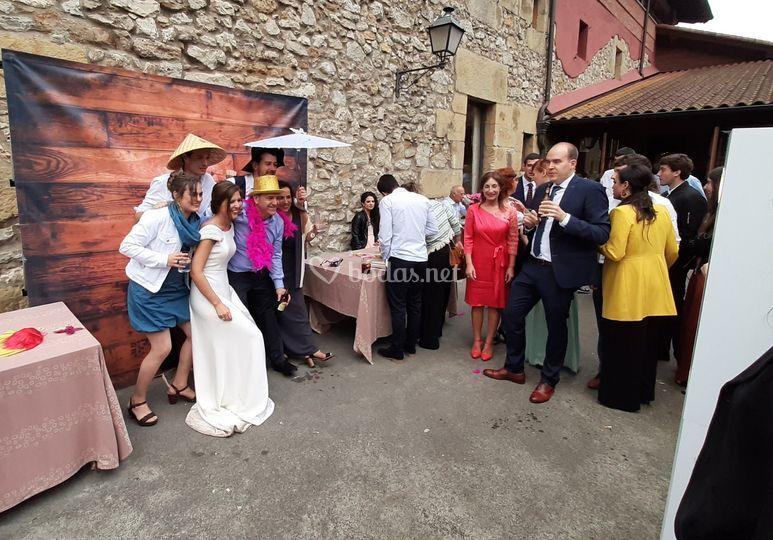 Invitados con la novia