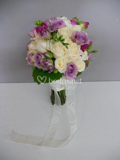 Bouquet rosa spray lila