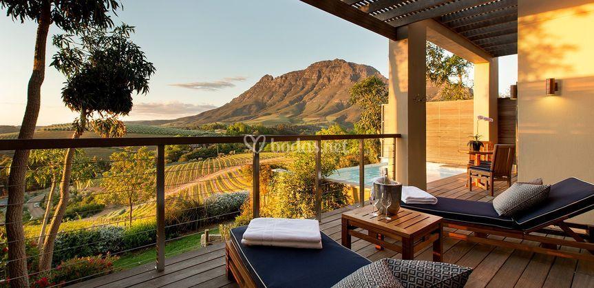 Vista suite de lujo Namibia
