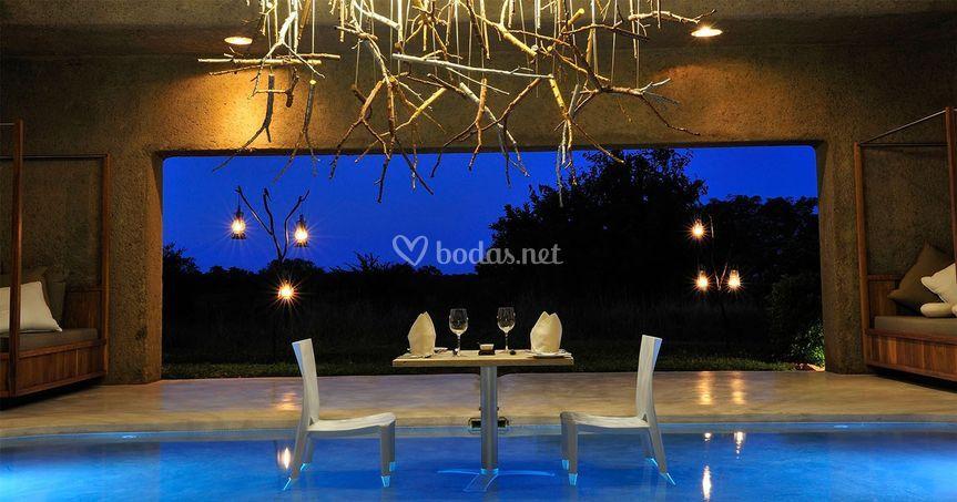 Cena romántica Botswana
