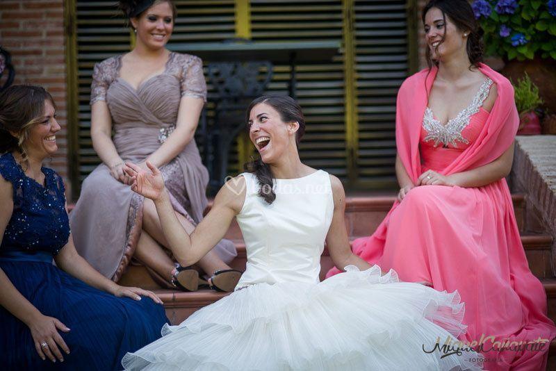 Novia y hermanas
