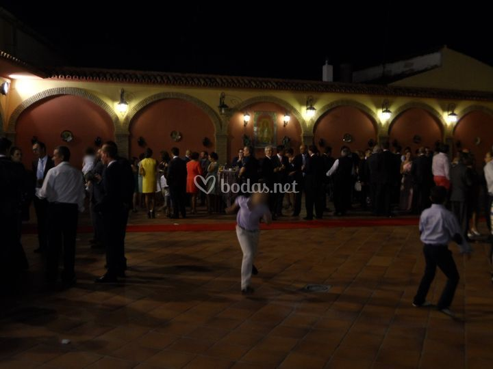 Patio principal, boda de noche