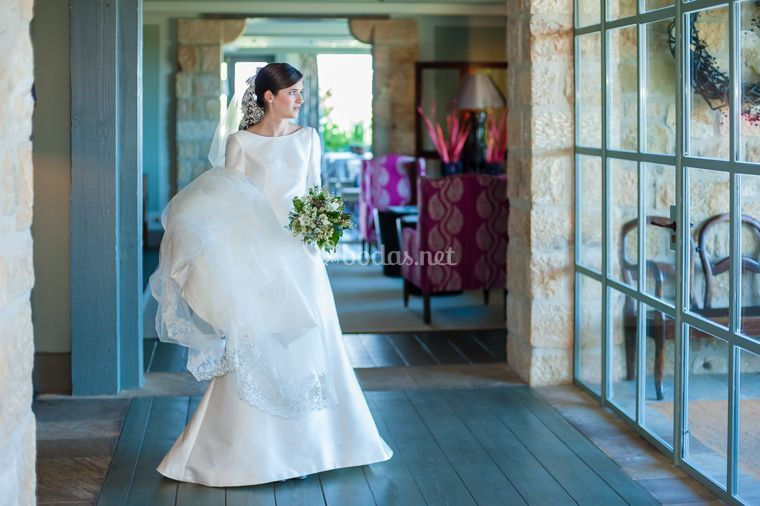 Llegando a la boda