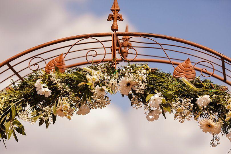 Arco floral ceremonia civil