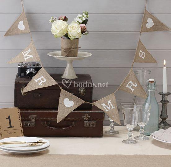 Guirnalda para boda Mr Mrs