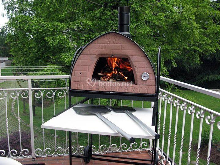 Horno instalado en el jard n de festa pizza foto 2 for Pizza jardin precios