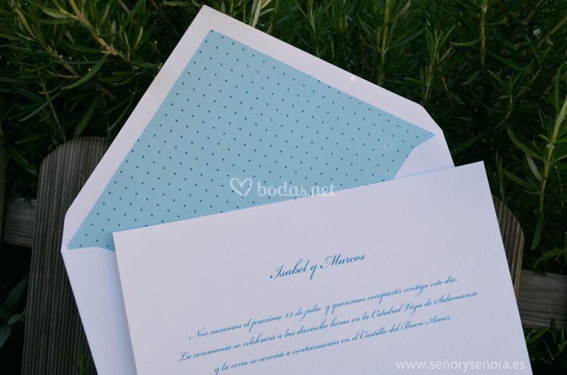 Invitación de boda Plumeti