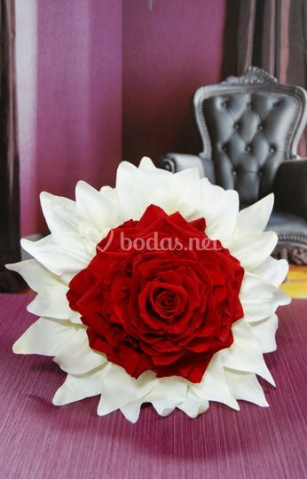 Rosmelia preservada roja
