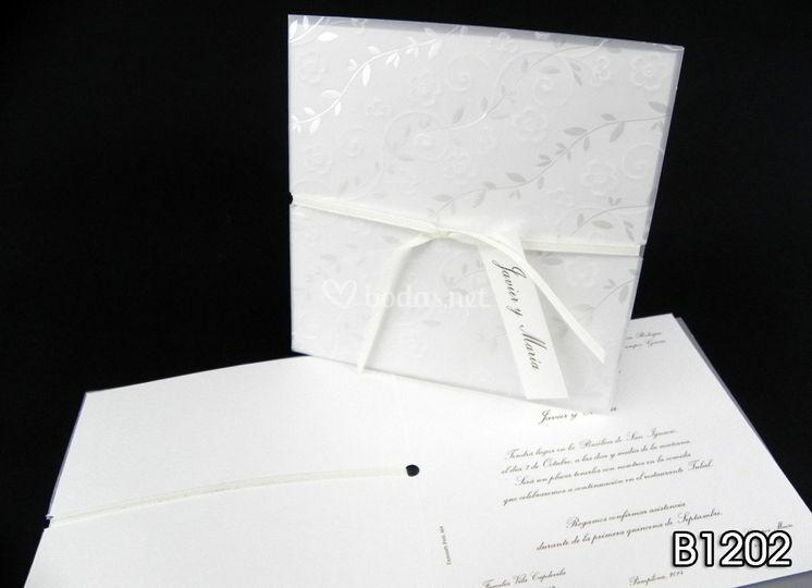 Invitaciones en blanco B1202