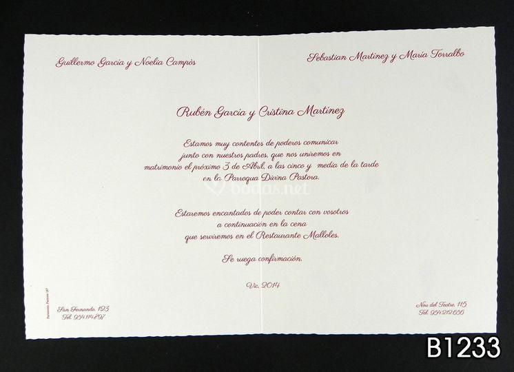 Formato de invitación B1233