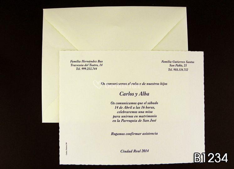 Invitaciones B1234