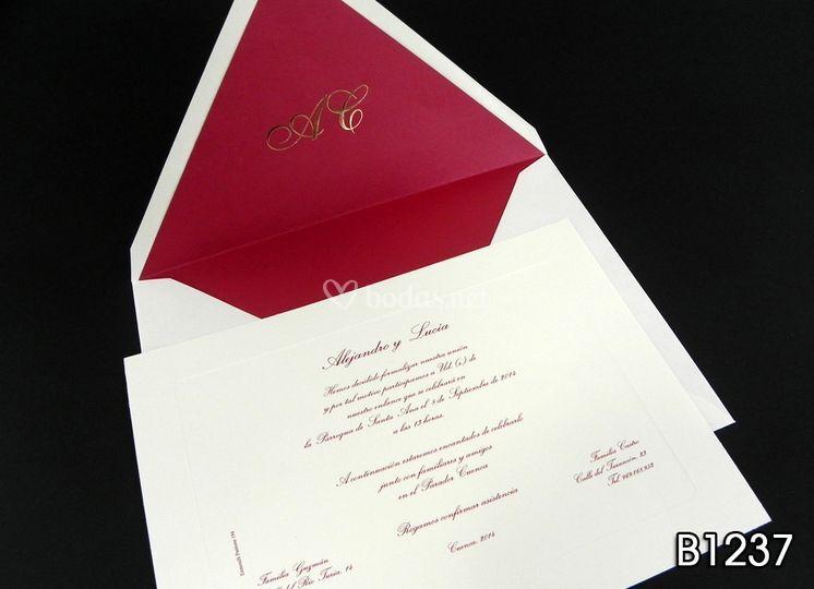 Invitaciones en rojo B1237