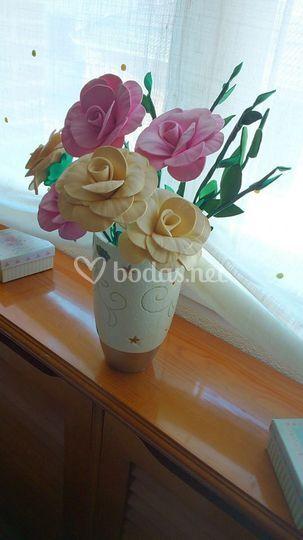 Rosas en tonos pasteles