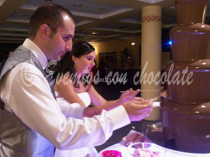 Fuentes chocolate  bodas