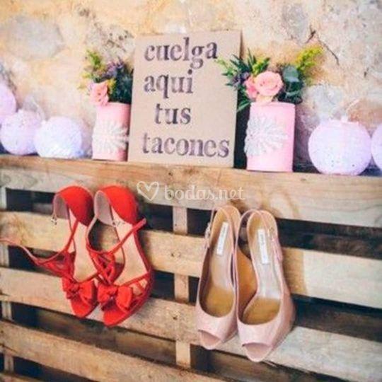 Rincón para zapatos