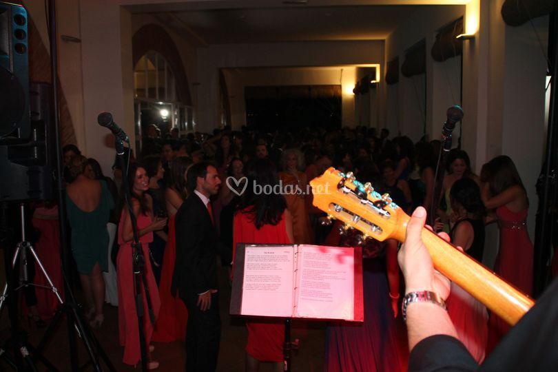 De boda desde el escenario