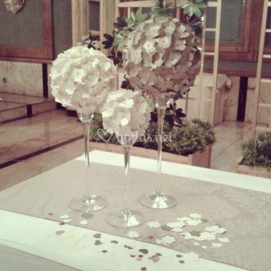 Detalle mesa ceremonia civil