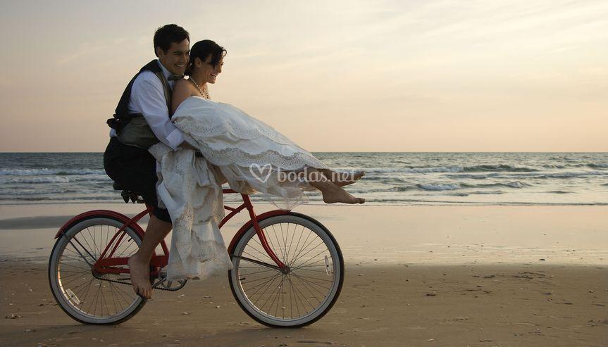 Una boda sobre ruedas