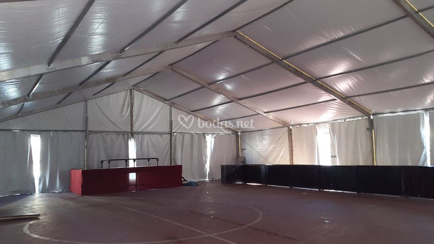 Carpa 15x20 metros interior