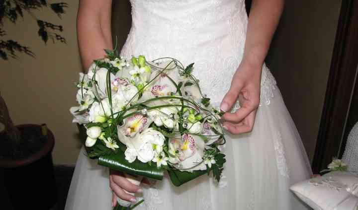 Ramo de novia con cymbidium