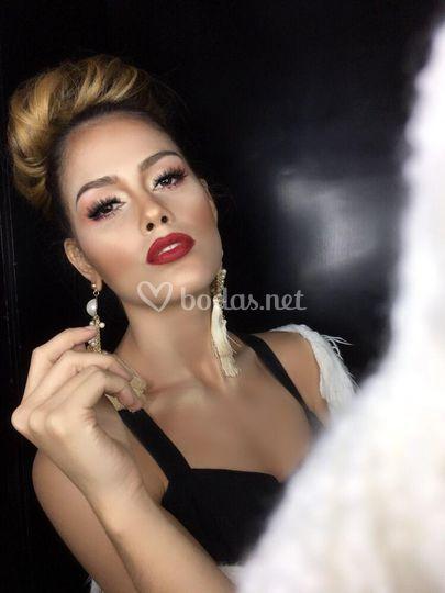 Makeup para novia glam