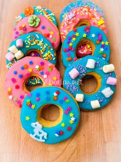 Galletas con forma de donuts