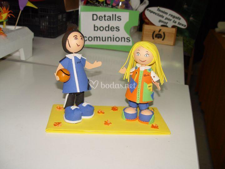 Muñecos para el pastel